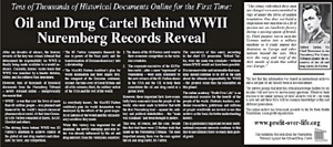 Oil and Drug Cartel Behind WWII Nuremberg Records Reveal